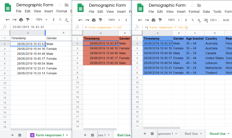 google sheets reference another document