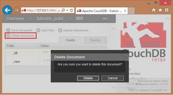 fetch a document with all fields in cloudant db