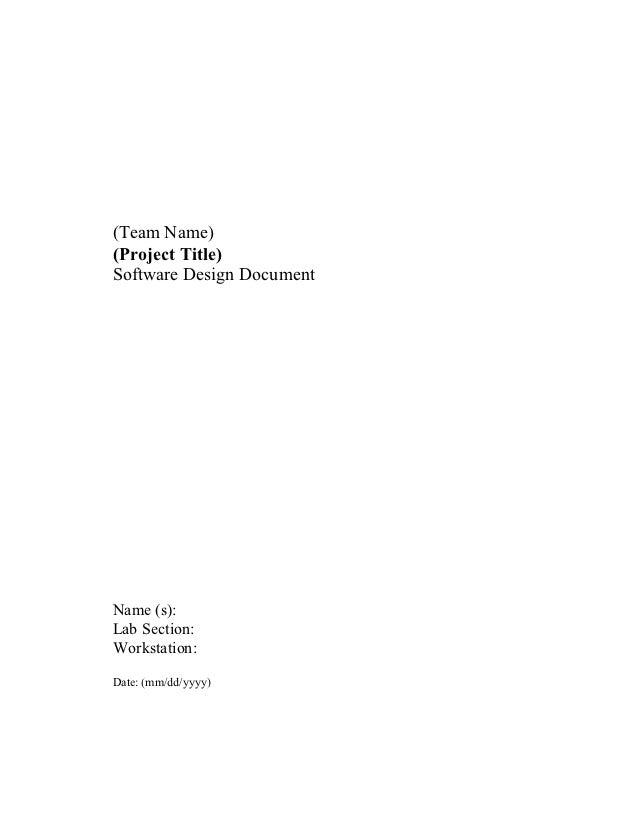software architecture document template ieee