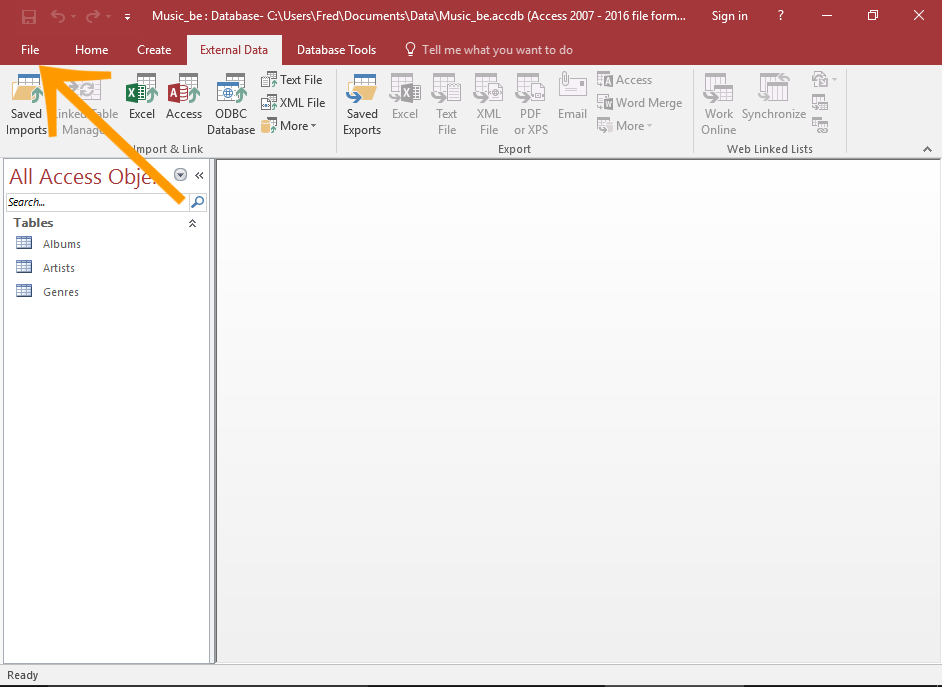 access 2013l tutorial merging database to microsoft word document