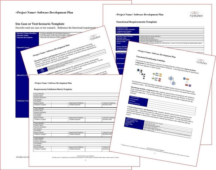 project functional specification document template