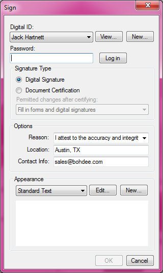 can you digitally sign a pdf document