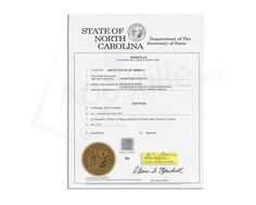 how to get a document apostille in north carolina
