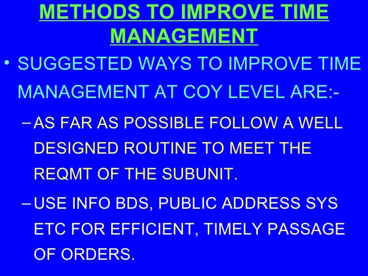 documentation and time management