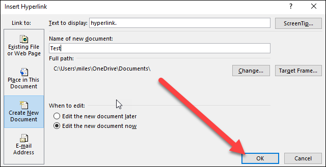 how to remove a hyperlink from word document
