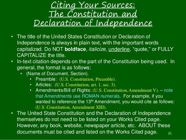 how to cite an ammendment in a document